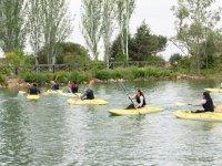 En canoas individuales