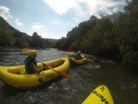 enjoying the canoe