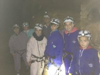 group inside the cave