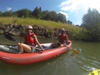 mounted on the kayak