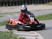 Driving kart in the circuit