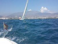 Sailboat in Almeria coast