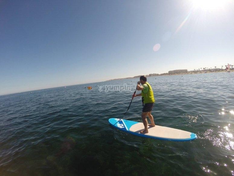Recorrido en paddle surf