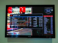 Monitor con el registro de tiempos