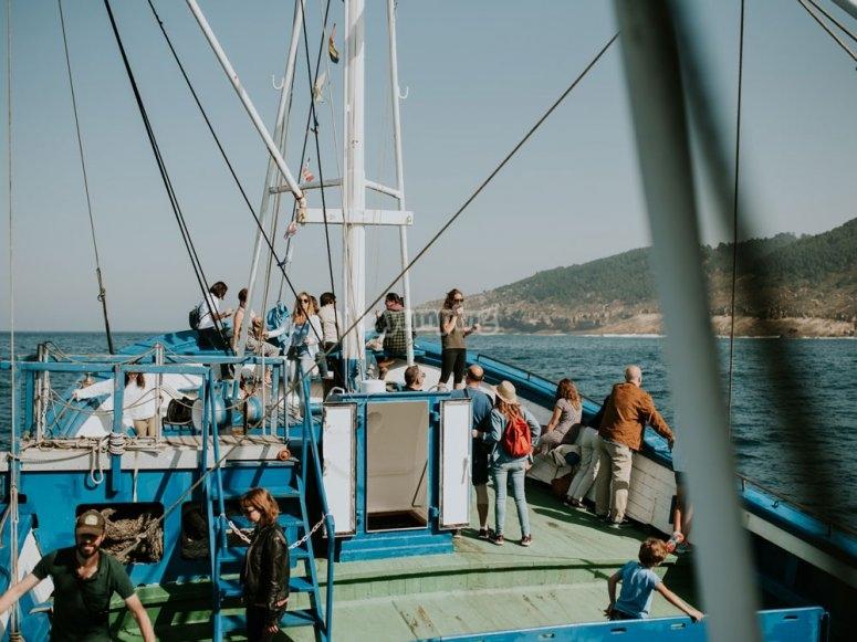 Navegando en nuestro barco