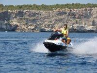 Jet ski excursion in Menorca