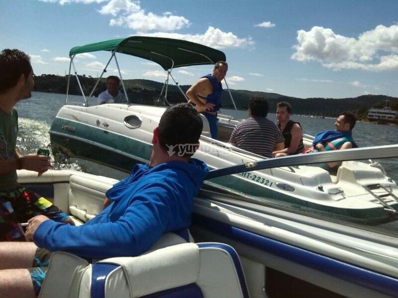 Embarcaciones en el pantano