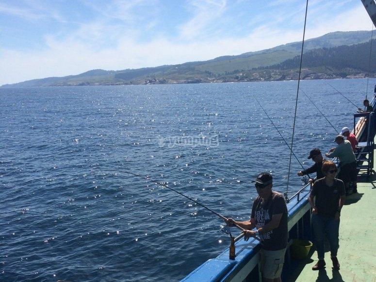 Pescando desde la costa