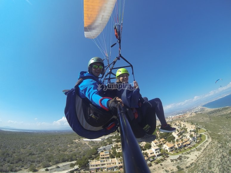 Two-seater paraglide