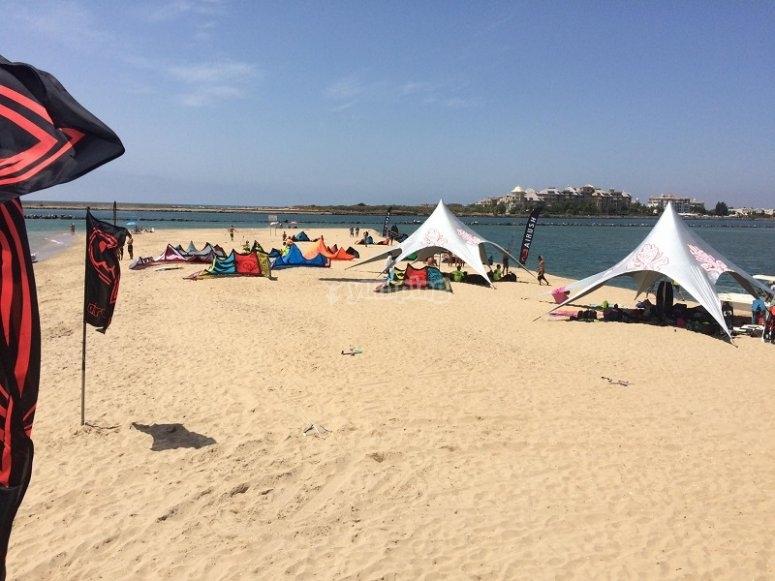 风筝冲浪海滩