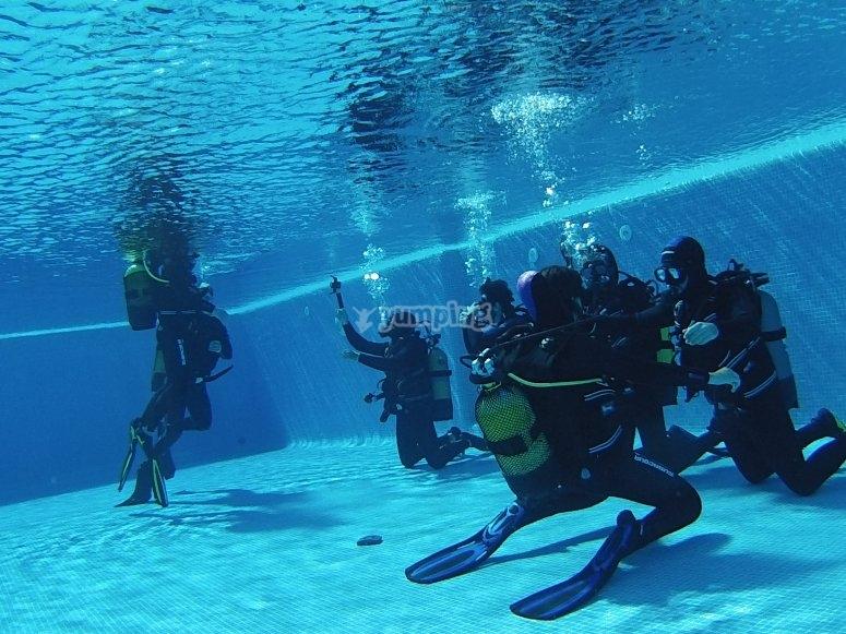 小组准备潜水费用