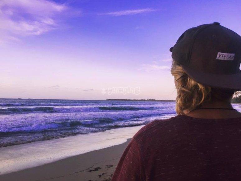 views Tarifa beach
