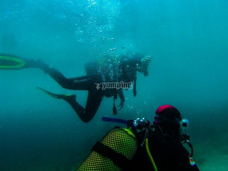 submarinismo en mar padi