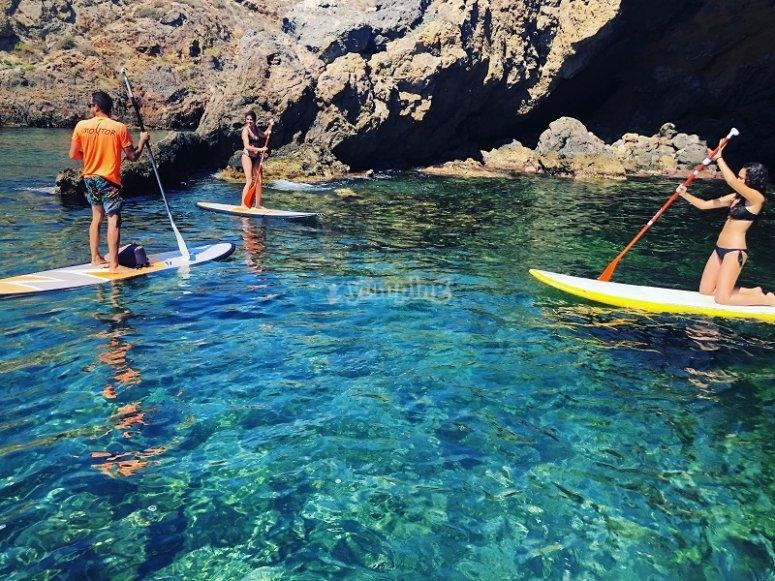 Paddle surf trip