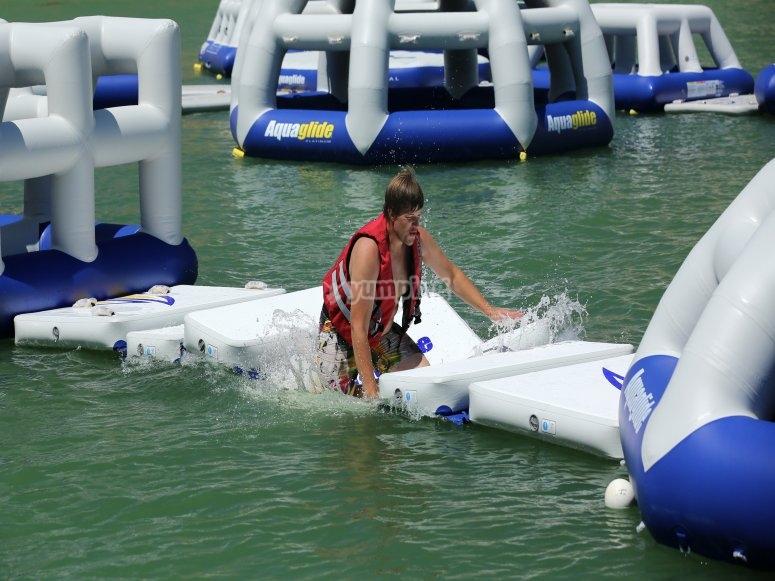 Run through the inflatable