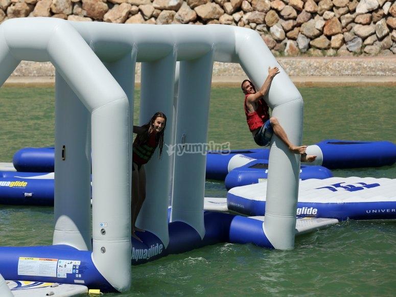 equilibrio en el agua
