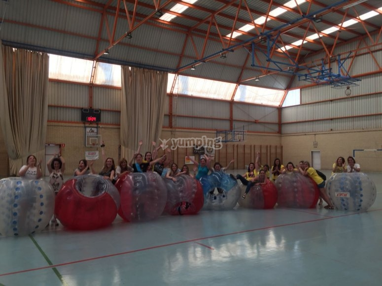 Zorbing in the gym