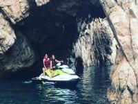 Jet ski in marine cave