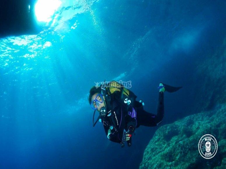 在潜水之下潜水