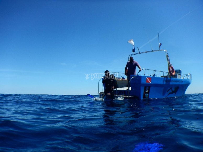 buceo desde barco