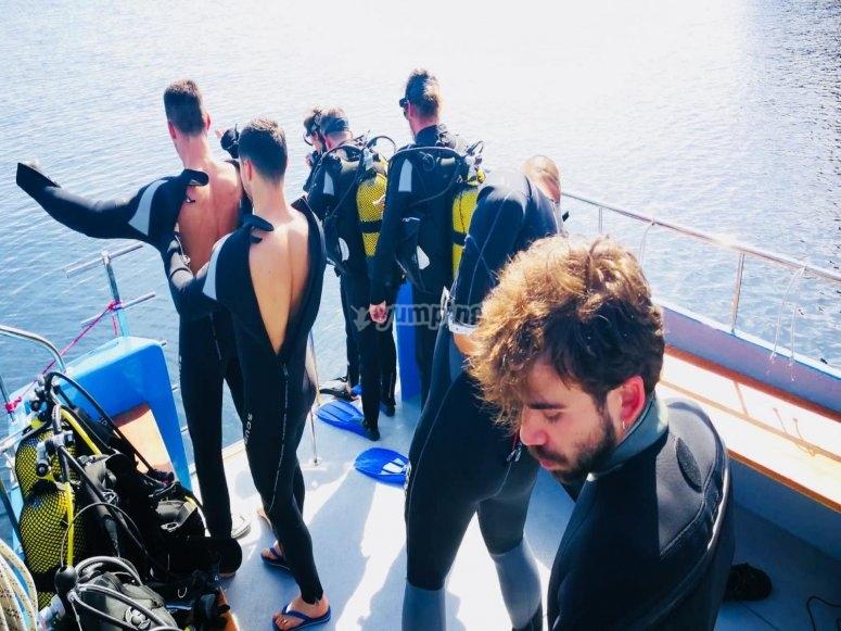 inmersiones desde barco