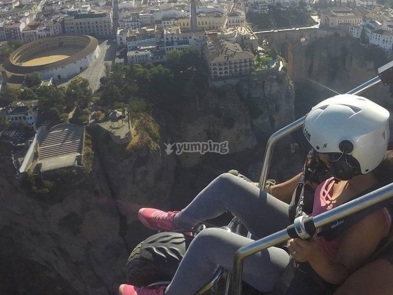 动力伞飞行体验
