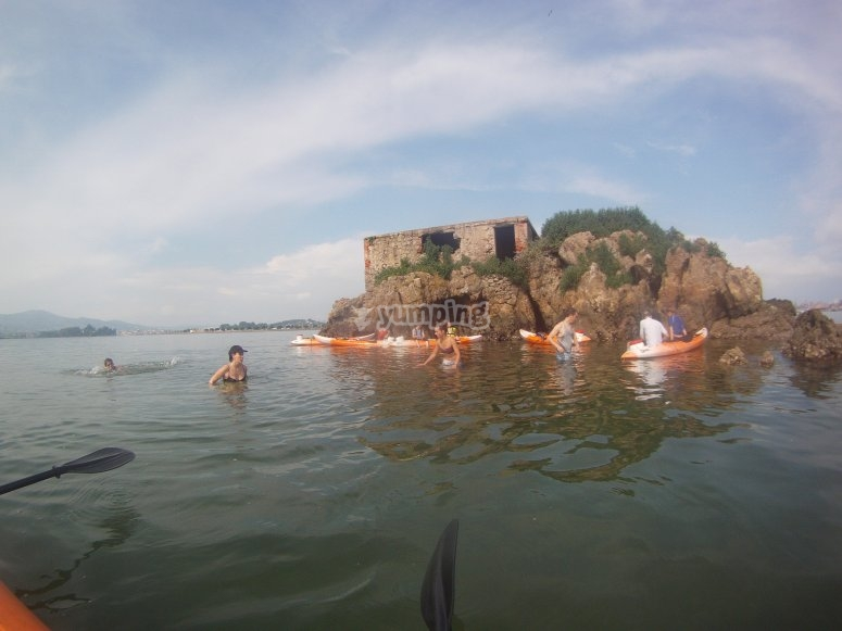 Visiting the islet