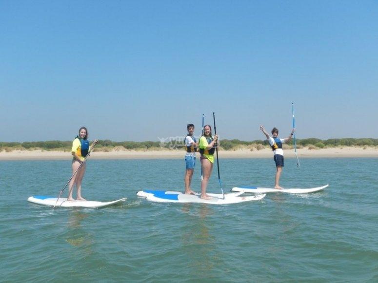 Navegando con paddle surf