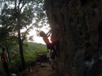 海兹基贝山脉区登山绳块海兹基贝山脉地区的洞穴绳
