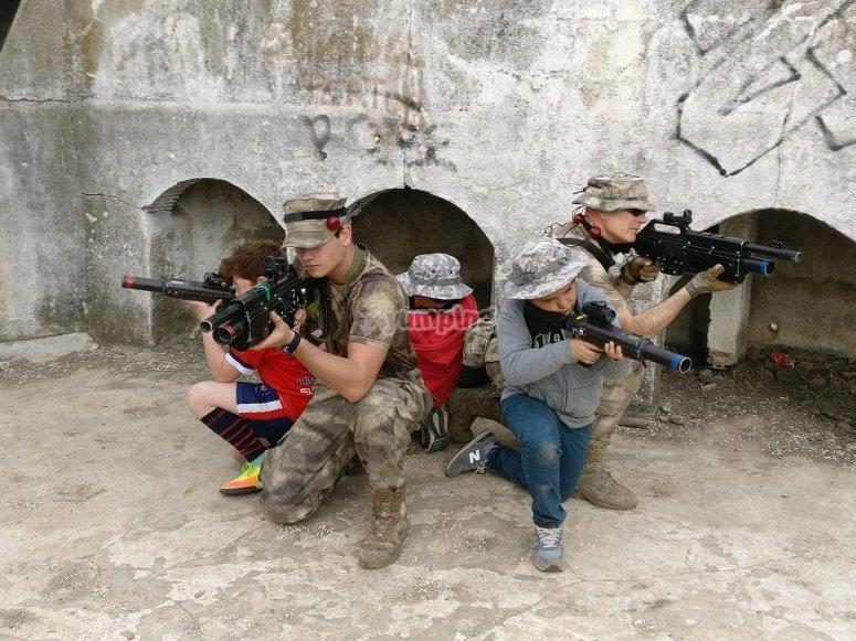 Laser combat squad