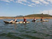 A bordo de las canoas