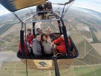 selfie in mongolfiera