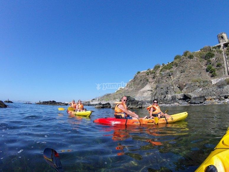 Kayaks dobles en Benalmadena