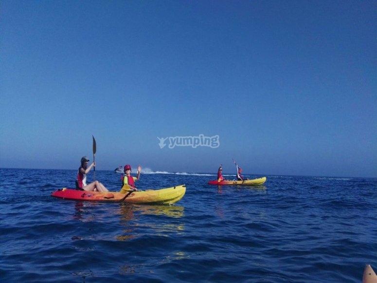 Ruta en kayak doble por Menalmadena