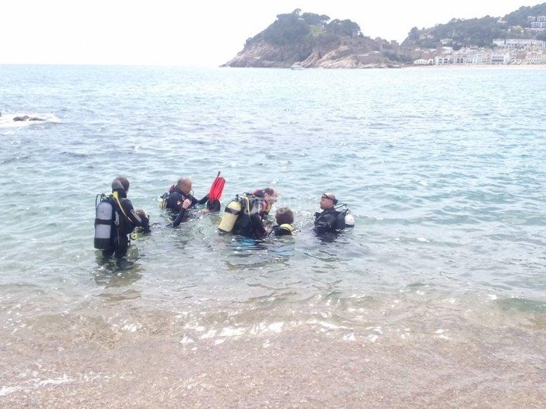 sesion en el mar