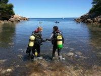 Bautismo buceo en Cala Pixavaques l'Ametlla de Mar