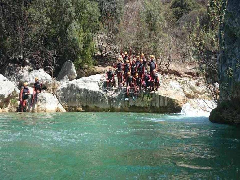 乐趣和冒险在瓜达伦廷河
