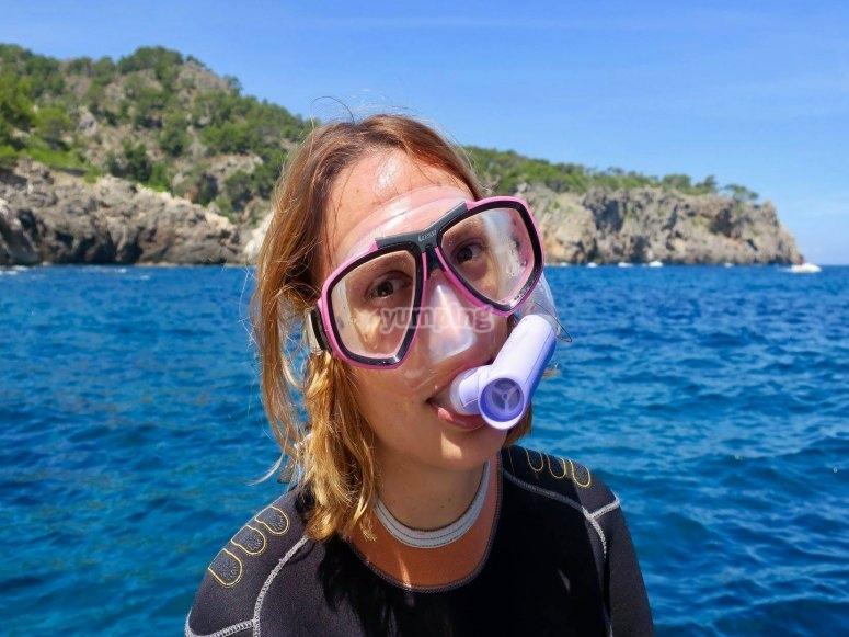 在马略卡岛浮潜