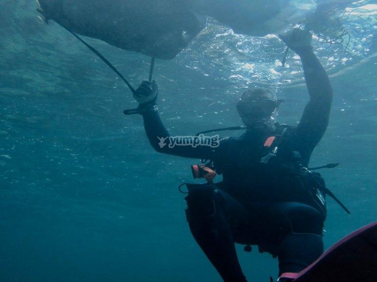 第一次在海上潜水