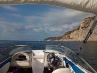 vista interna della barca