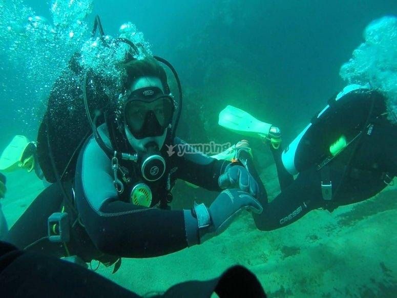 primera inmersion en mar del grupo de cuba