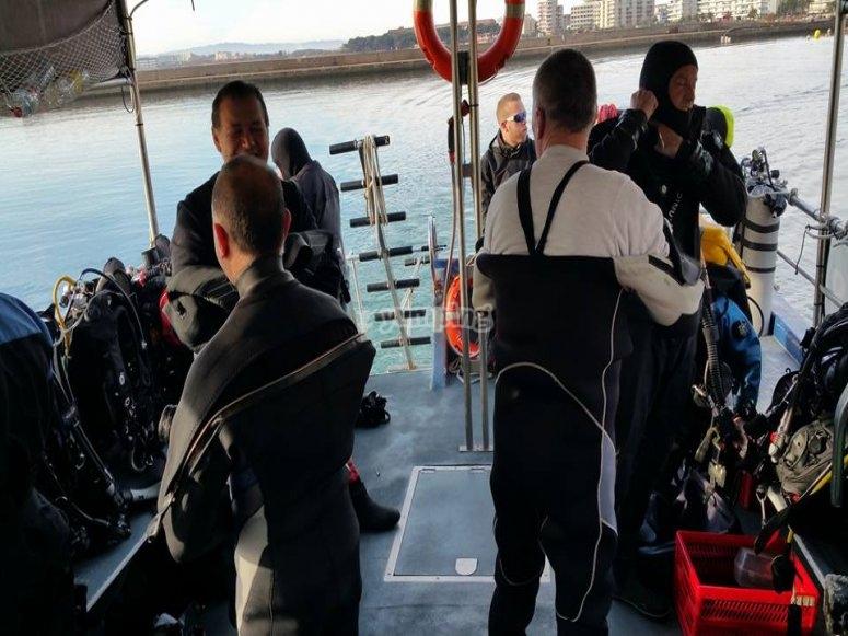 Curso PADI Open en embarcacion