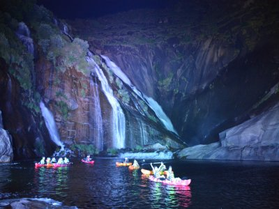 Night Kayak Route in Xallas River, Light Show