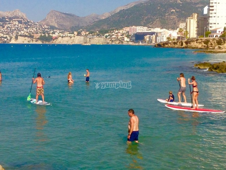 Excursion de paddle surf