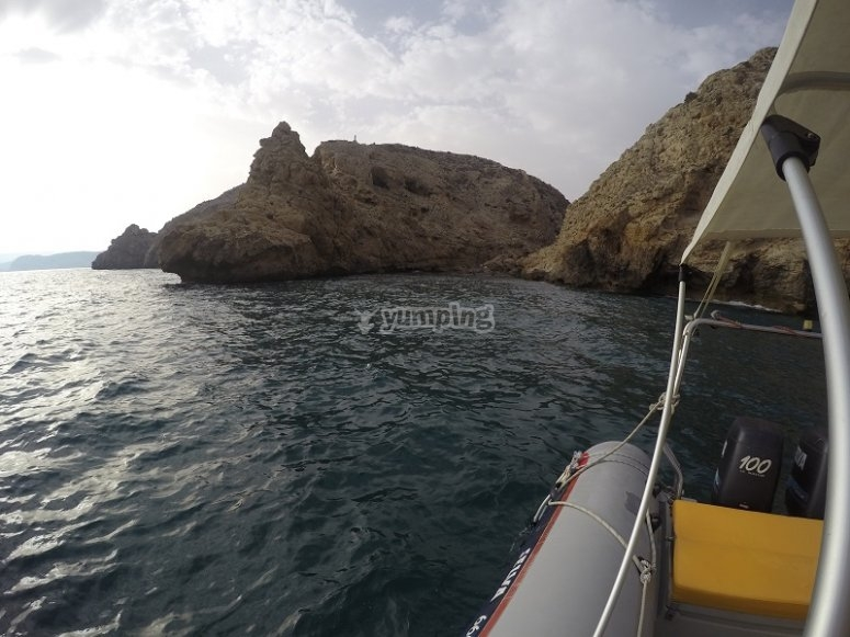 Navegando en barca