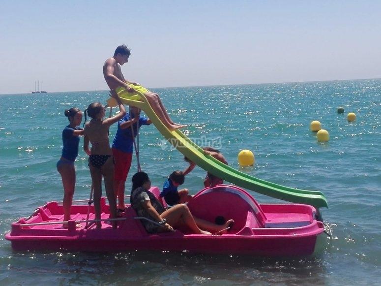 barca de pedales