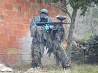 Player with camouflage suit