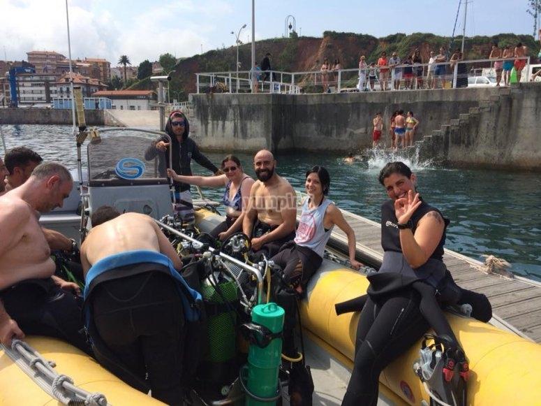 Salida al mar en nuestra embarcacion