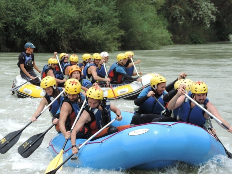 Rafting in the Gallego river