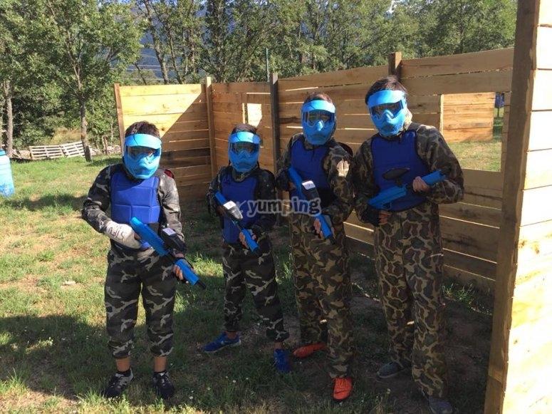 Blue team paintball